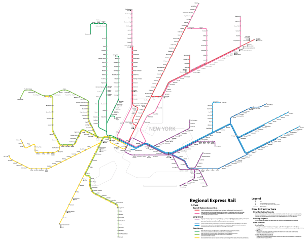 Regional Rail Map